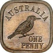 Australia One Penny George V (Kookaburra Pattern - Type 7) 1920 Pattern KM# Pn14 AUSTRALIA ONE PENNY coin reverse