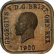 Australia One Penny George V (Kookaburra Pattern - Type 9) 1920 KM# Pn16 GEORGIVS V D.G.BRITT:OMN:REX 1920 coin obverse