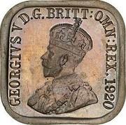 Australia One Penny Kookaburra Pattern - Type 10 1920 KM# Pn17 GEORGIVS V D.G.BRITT:OMN:REX. 1920 coin obverse
