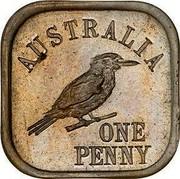 Australia One Penny Kookaburra Pattern - Type 10 1920 KM# Pn17 AUSTRALIA ONE PENNY coin reverse