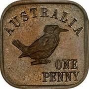 Australia One Penny Kookaburra Pattern - Type 11 (Renniks 13) 1921 KM# Pn22 AUSTRALIA ONE PENNY coin reverse