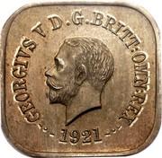 Australia One Penny Kookaburra Pattern - Type 12 (Renniks 11) 1921 KM# Pn20 GEORGE V D.G.BRITT.OMN:REX 1921 coin obverse