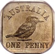 Australia One Penny Kookaburra Pattern - Type 12 (Renniks 11) 1921 KM# Pn20 AUSTRALIA ONE PENNY coin reverse