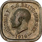 Australia One Penny Kookaburra Pattern - Type 4 1919 Pattern KM# Pn9 GEORGE V D.G.BRITT.OMN:REX 1919 coin obverse