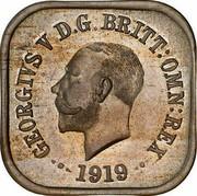 Australia One Penny Kookaburra Pattern - Type 6 1919 KM# Pn11 GEORGE V D.G.BRITT.OMN:REX 1919 coin obverse