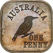 Australia One Penny Kookaburra Pattern - Type 6 1919 KM# Pn11 AUSTRALIA ONE PENNY coin reverse