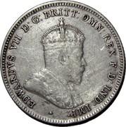 Australia One Shilling Edward VII 1910 KM# 20 EDWARDVS VII D: G: BRITT: OMN: REX F: D: IND: IMP: coin obverse