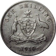 Australia One Shilling Edward VII 1910 KM# 20 ONE SHILLING ADVANCE AUSTRALIA 1910 coin reverse