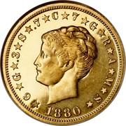 USA One Stella 400 Cents 1880 KM# Pn1745 ★6★G★.3★S★.7★C★7★G★R★A★M★S★ LIBERTY 1880 coin obverse