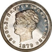 USA One Stella 1879  KM# Pn1725 Circulation Coins ★6★G★.3★S★.7★C★7★G★R★A★M★S★ LIBERTY 1879 coin obverse
