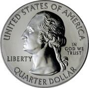 USA Quarter Dollar Cumberland Gap 2016 KM# 636a UNITED STATES OF AMERICA LIBERTY IN GOD WE TRUST QUARTER DOLLAR S JF coin obverse