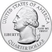 USA Quarter Dollar Ellis Island 2017 KM# 665 ELLIS ISLAND NEW JERSEY E PLURIBUS UNUM coin obverse