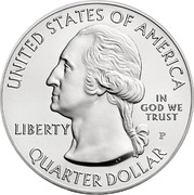 USA Quarter Dollar Harpers Ferry 2016 S Proof KM# 637a UNITED STATES OF AMERICA LIBERTY IN GOD WE TRUST S QUARTER DOLLAR coin obverse