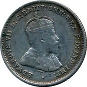 Australia Six Pence Edward VII 1910 KM# 19 EDWARDVS VII D: G: BRITT: OMN: REX F: D: IND: IMP: coin obverse