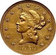 USA Ten D. 1850 KM# 27 Dubosq & Company DUBOSO & CO coin obverse