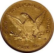 USA Ten D. 1850 KM# 27 Dubosq & Company S.M.V. CALIFORNIA GOLD TEN D. coin reverse