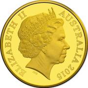 Australia Ten Dollars 100th Anniversary of the Gallipoli Landing 2015 ELIZABETH II AUSTRALIA 2015 IRB coin obverse