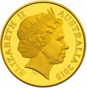 Australia Ten Dollars Anzac Centenary 1915-2015 2015 KM# 2200 ELIZABETH II AUSTRALIA 2015 IRB coin obverse