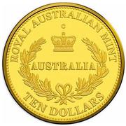 Australia Ten Dollars Australia's First Mints 2016 ROYAL AUSTRALIAN MINT AUSTRALIA TEN DOLLARS C coin reverse