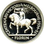 Australia Twenty Cents Victoria and Melbourne Centenary Florin 1998 CENTENARY∙VICTORIA∙MELBOURNE∙1934-35∙ KG FLORIN coin reverse
