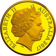 Australia Twenty Five Dollars Queen's Baton Relay 2017 ELIZABETH II AUSTRALIA 2017 IRB coin obverse