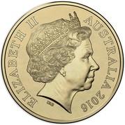 Australia Two Dollars Australian Olympic Team - Green 2016  ELIZABETH II AUSTRALIA 2016 IRB coin obverse