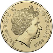 Australia Two Dollars Australian Olympic Team - Red 2016  ELIZABETH II AUSTRALIA 2016 IRB coin obverse