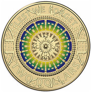 Australia Two Dollars Lest We Forget - Dome of Australian War Memorial 2017  LEST WE FORGET C TD TWO DOLLARS coin reverse