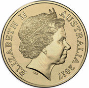 Australia Two Dollars Possum Magic - Happy Hush 2017  ELIZABETH II AUSTRALIA 2017 IRB coin obverse