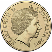 Australia Two Dollars Possum Magic - Hash Can See Her Tail Again 2017  ELIZABETH II AUSTRALIA 2017 IRB coin obverse
