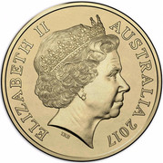 Australia Two Dollars Possum Magic - Invisible Hush 2017  ELIZABETH II AUSTRALIA 2017 IRB coin obverse