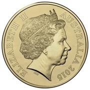 Australia Two Dollars Remembrance Day - Orange 2015 KM# 2189 ELIZABETH II AUSTRALIA 2015 IRB coin obverse