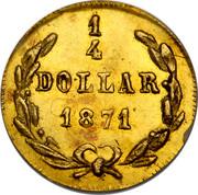 USA 1/4 Dollar Liberty Octagonal 1871 1 4 DOLLAR 1871 coin reverse
