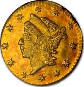 USA 1/4 Dollar Liberty Round 1860 - coin obverse