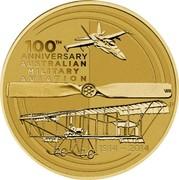 Australia 1 Dollar 100th Anniversary Australian Military Aviation 2014 100TH ANNIVERSARY OF AUSTRALIAN MILITARY AVIATION 1914 - 2014 P WR coin reverse