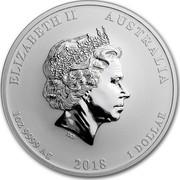 Australia 1 Dollar Graduation 2018 ELIZABETH II AUSTRALIA 1 OZ 9999 AG 2018 1 DOLLAR IRB coin obverse