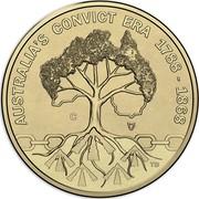 Australia 1 Dollar (Rascals & Ratbags) AUSTRALIA'S CONVICT ERA 1788 - 1868 C TD coin reverse