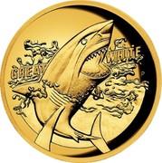 Australia 100 Dollars Great White Shark 2015 GREAT WHITE P NM coin reverse