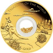 Australia 100 Dollars Treasures of the World - Australia 2014 KM# 2176 TREASURES OF THE WORLD GOLD P NM coin reverse