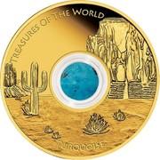 Australia 100 Dollars Treasures of the World - North America 2015 KM# 2203 TREASURES OF THE WORLD TURQUOISE P NM coin reverse