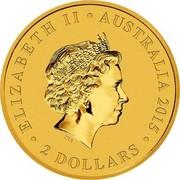Australia 2 Dollars Wedge-Tailed Eagle 2015 KM# 2209 ELIZABETH II AUSTRALIA 2015 2 DOLLARS IRB coin obverse