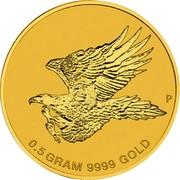 Australia 2 Dollars Wedge-Tailed Eagle 2015 KM# 2209 0.5 GRAM 9999 GOLD P coin reverse