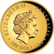 Australia 200 Dollars Australian Koala 2015 ELIZABETH II AUSTRALIA 200 DOLLARS IRB coin obverse