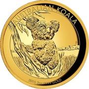 Australia 200 Dollars Australian Koala 2015 AUSTRALIAN KOALA 2015 2 OZ 9999 GOLD P IJ coin reverse