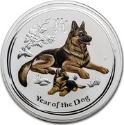 Australia 30 Dollars Year of the Dog 2018 YEAR OF THE DOG P IJ coin reverse