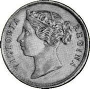 Australia One Shilling Victoria 1860 KM# Pn10 VICTORIA REGINA coin obverse