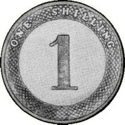 Australia One Shilling Victoria 1860 KM# Pn10 ONE SHILLING 1 coin reverse